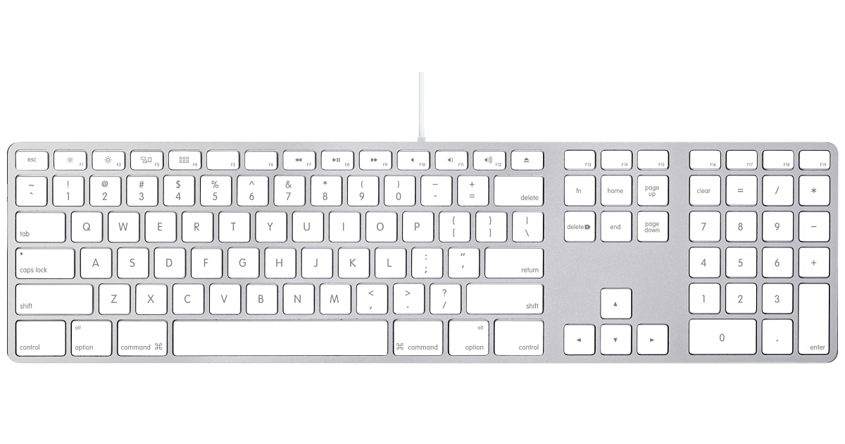 Best desktop keyboard for Mac & PC - Apple 84-key wired keyboard
