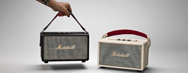 Marshall Kilburn Portable Bluetooth Speaker - Cream and Black, perfect in the kitchen, office & park