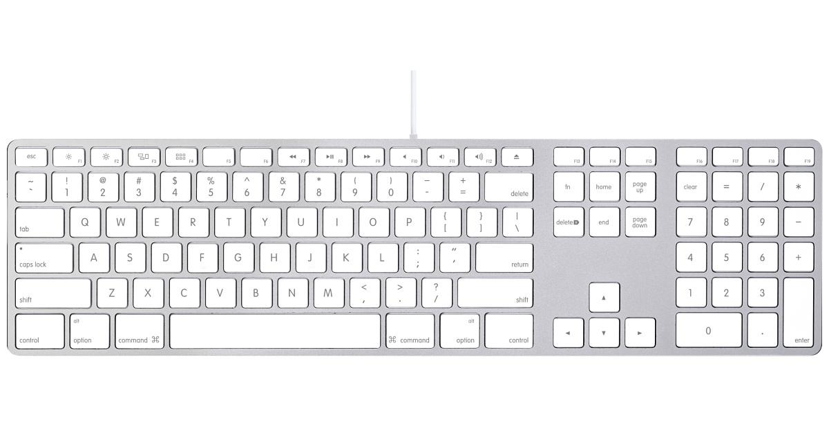 Best desktop keyboard for Mac & PC - Apple 84-key wired keyboard