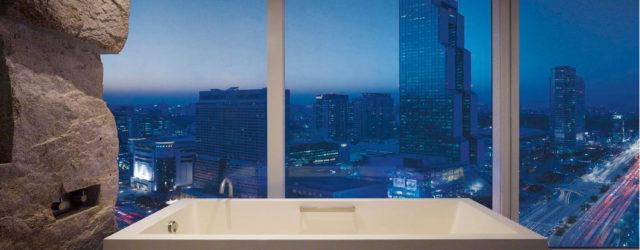 Park Hyatt Seoul Deluxe_Bathroom with Night Views